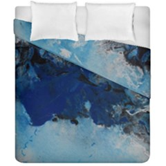 Blue Abstract No 5 Duvet Cover (double Size) by timelessartoncanvas