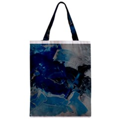 Blue Abstract No. 6 Zipper Classic Tote Bags