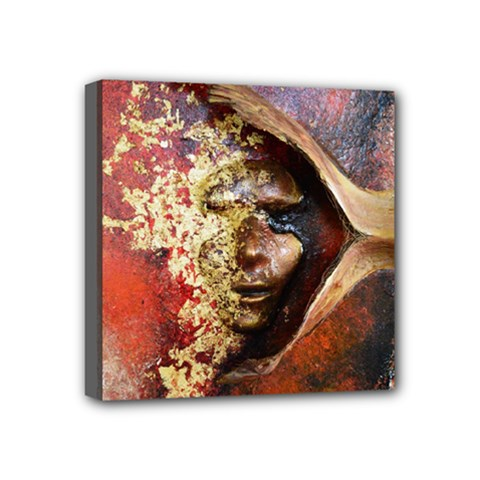 Red Mask Mini Canvas 4  X 4  by timelessartoncanvas