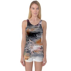 Natural Abstract Landscape No. 2 Women s Boyleg One Piece Swimsuits