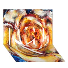 Abstract Rose I Love You 3d Greeting Card (7x5)  by timelessartoncanvas