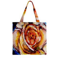 Abstract Rose Zipper Grocery Tote Bags by timelessartoncanvas