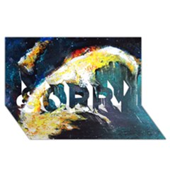 Abstract Space Nebula Sorry 3d Greeting Card (8x4)
