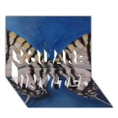 Butterfly You Are Invited 3d Greeting Card (7x5)  by timelessartoncanvas