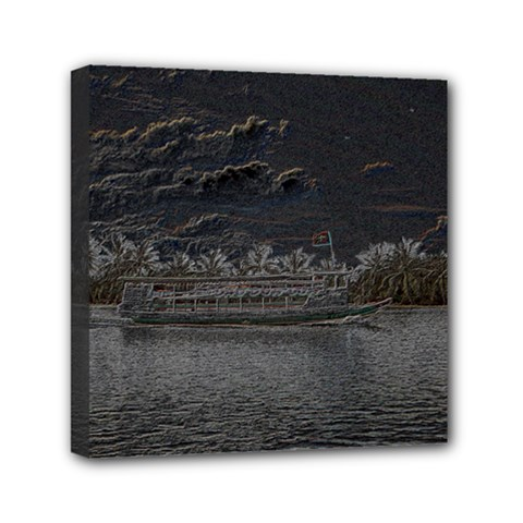 Boat Cruise Mini Canvas 6  x 6  by InsanityExpressed