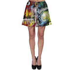 Abstract Music Painting Skater Skirts by timelessartoncanvas