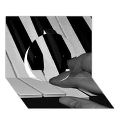 The Piano Player Circle 3d Greeting Card (7x5)
