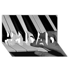 The Piano Player #1 Dad 3d Greeting Card (8x4)  by timelessartoncanvas