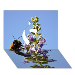 Bumble Bee 1 Ribbon 3d Greeting Card (7x5)  by timelessartoncanvas