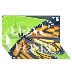 Butterfly 2 Best Friends 3d Greeting Card (8x4)  by timelessartoncanvas