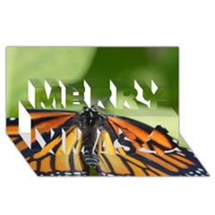 Butterfly 3 Merry Xmas 3d Greeting Card (8x4)  by timelessartoncanvas