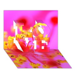 Bright Pink Hibiscus 2 Love 3d Greeting Card (7x5)