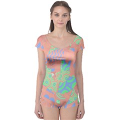 Tropical Summer Fruit Salad Boyleg Leotard (ladies) by CrypticFragmentsColors