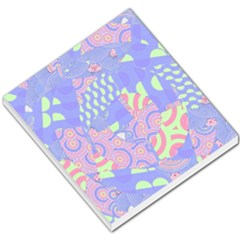 Girls Bright Pastel Abstract Blue Pink Green Small Memo Pads by CrypticFragmentsColors