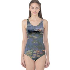 Claude Monet   Water Lilies Women s One Piece Swimsuits by ArtMuseum