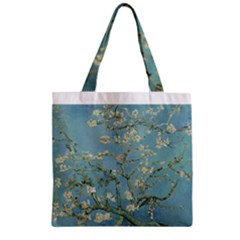 Almond Blossom Tree Zipper Grocery Tote Bags by ArtMuseum
