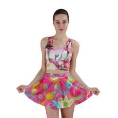 Hippy Peace Swirls Mini Skirts by KirstenStar