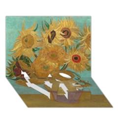 Vincent Willem Van Gogh, Dutch   Sunflowers   Google Art Project Love Bottom 3d Greeting Card (7x5)  by ArtMuseum