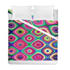 Psychedelic Checker Board Duvet Cover (Twin Size) by KirstenStar