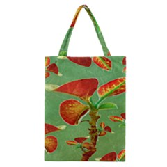 Tropical Floral Print Classic Tote Bags by dflcprints