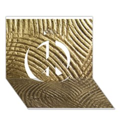 Brushed Gold 050549 Peace Sign 3d Greeting Card (7x5)  by AlteredStates