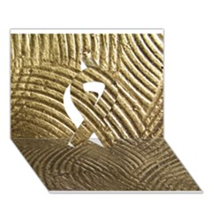 Brushed Gold 050549 Ribbon 3d Greeting Card (7x5)  by AlteredStates