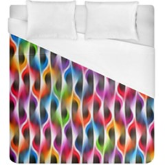 Rainbow Psychedelic Waves  Duvet Cover Single Side (kingsize) by KirstenStar