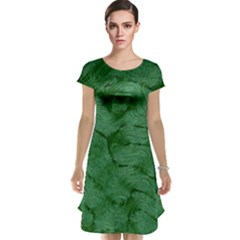 Woven Skin Green Cap Sleeve Nightdresses by InsanityExpressed