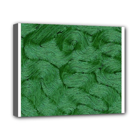 Woven Skin Green Canvas 10  x 8  by InsanityExpressed