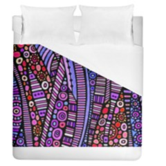Stained glass tribal pattern Duvet Cover Single Side (Full/Queen Size) by KirstenStar