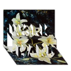 Bright Lilies Work Hard 3d Greeting Card (7x5)  by timelessartoncanvas