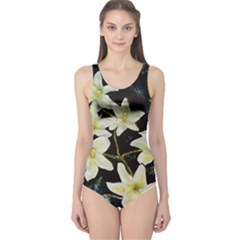 Bright Lilies Women s One Piece Swimsuits by timelessartoncanvas