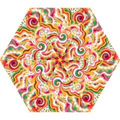 Sunshine Swirls Mini Folding Umbrellas by KirstenStar