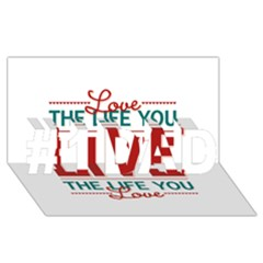 Love The Life You Live #1 Dad 3d Greeting Card (8x4)  by theimagezone