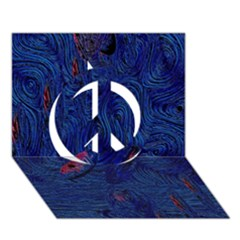 Blue Sphere Peace Sign 3d Greeting Card (7x5)  by InsanityExpressed