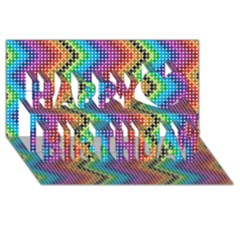 Aztec 3 Happy Birthday 3d Greeting Card (8x4)  by theimagezone