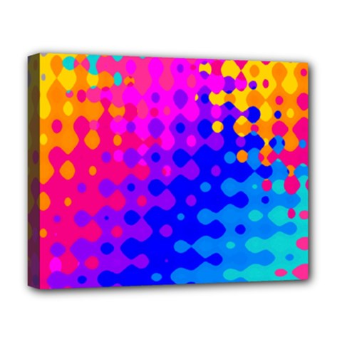 Totally Trippy Hippy Rainbow Deluxe Canvas 20  X 16   by KirstenStar