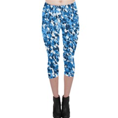Bluebunnyflage Capri Leggings by TwoPinesFarm