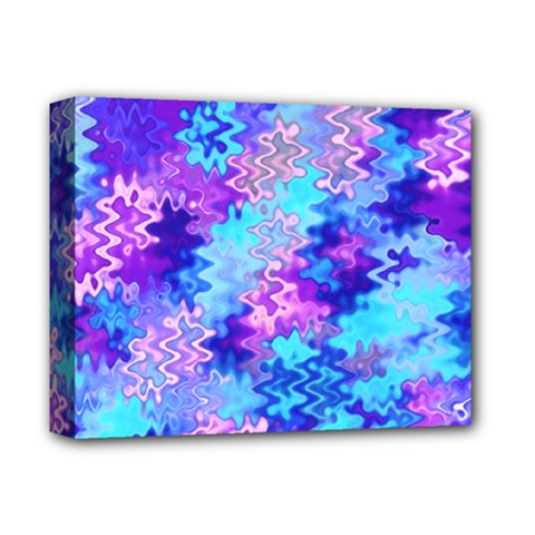 Blue And Purple Marble Waves Deluxe Canvas 14  X 11  by KirstenStar