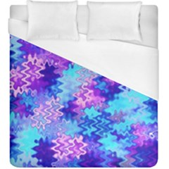 Blue And Purple Marble Waves Duvet Cover Single Side (kingsize) by KirstenStar