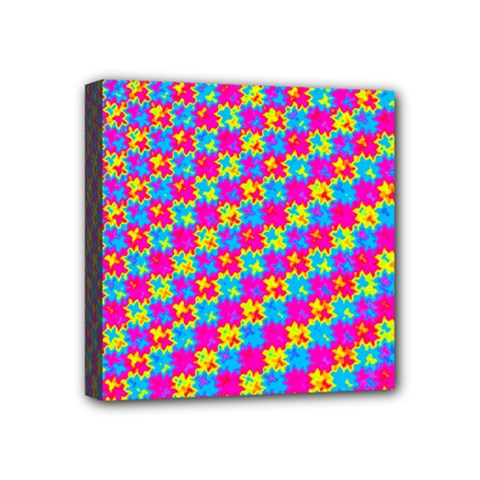 Crazy Yellow And Pink Pattern Mini Canvas 4  X 4  by KirstenStar