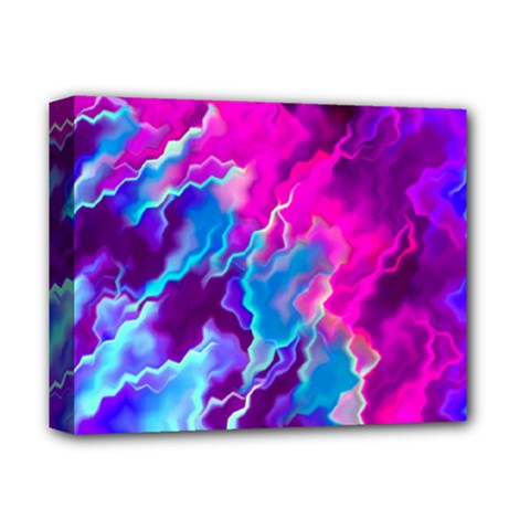 Stormy Pink Purple Teal Artwork Deluxe Canvas 14  X 11  by KirstenStar
