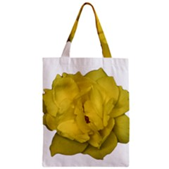 Isolated Yellow Rose Photo Zipper Classic Tote Bags by dflcprints