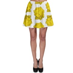 Yellow Rose Pattern Print  Skater Skirts by dflcprintsclothing