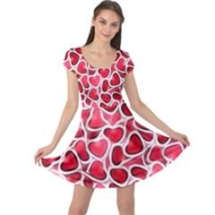 Candy Hearts Cap Sleeve Dress