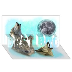 Wolves Shiney Grim Moon 3000 Best Bro 3d Greeting Card (8x4)  by ratherkool