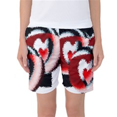 Heart Time 3 Women s Basketball Shorts by InsanityExpressedSuperStore