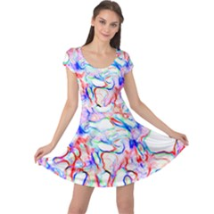 Soul Colour Light Cap Sleeve Dresses by InsanityExpressedSuperStore