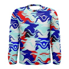 Wavy Chaos Men Long Sleeve T Shirt