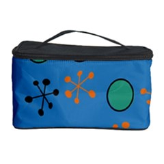 Circles And Snowflakes Cosmetic Storage Case by LalyLauraFLM